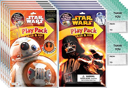 Star Wars Grab n Go Play Packs Children's Party Favor Pack (12 Packs) Play Packs and 12