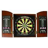 Triumph Sports USA Round Top Bristle Dartboard Wood Cabinet Set