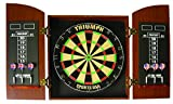 Triumph Sports Round Top Bristle Dartboard Wood Cabinet Set