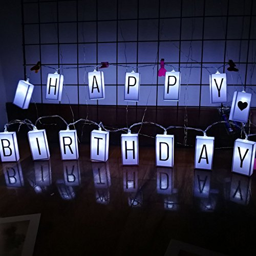 Price comparison product image Led Letter Light Box String | Glow in the Dark DIY Letter Combination Sign | Happy Birthday Banner