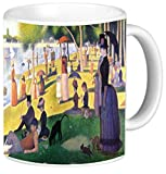 Rikki Knight Georges-Pierre Seurat Art Sunday at La Grande Jatte Design 11 oz Photo Quality Ceramic Coffee Mug Cup- Dishwasher and Microwave Safe