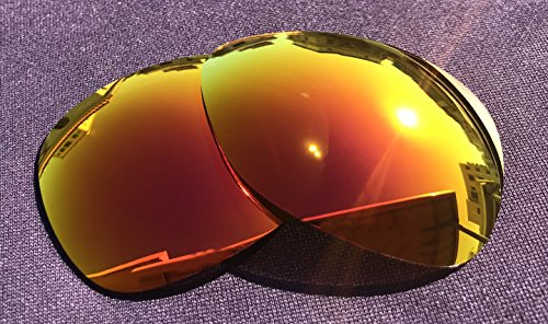 Littlebird4 2 Pairs 1.5mm Polarized Replacement Lenses for Oakley Crosshair Sunglasses - Multiple Options (Silver+Fire Red) by Littlebird4 (Image #4)