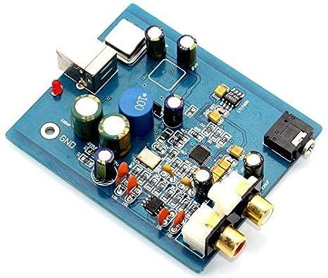 Amazon.com: Montado HIFI SA9023 + ES9018 K2M Audio Tarjeta ...