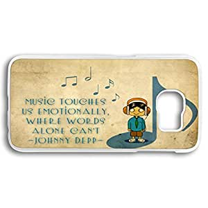 Plastic Case Cover for Samsung galaxy S6,Samsung galaxy S6 Transparent Case with music quote design