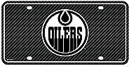Rico Industries, Inc. Edmonton Oilers Metal Tag License Plate Carbon Fiber Design Premium Aluminum Novelty Hoc