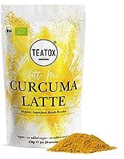 TEATOX Bio Kurkuma Latte Mix, Kurkuma Pulver für Goldene Milch, Smoothies und Bowls, ohne Zusatz von Zucker, vegan, Curcuma Latte Pulver für Kurkuma Tee