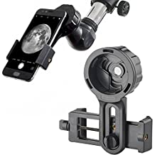 Landove Universal Cell Phone Smartphone Quick Photography Adapter Mount Connector for Telescope Binoculars Monocular Spotting Scope Microscope & and with Cell Mobile Phone (Adapter)