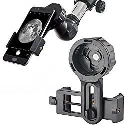 Landove Universal Cell Phone Smartphone Quick Photography Adapter Mount Connector For Telescope Binoculars Monocular Spotting Scope Microscope & & With Cell Mobile Phone (Adapter)
