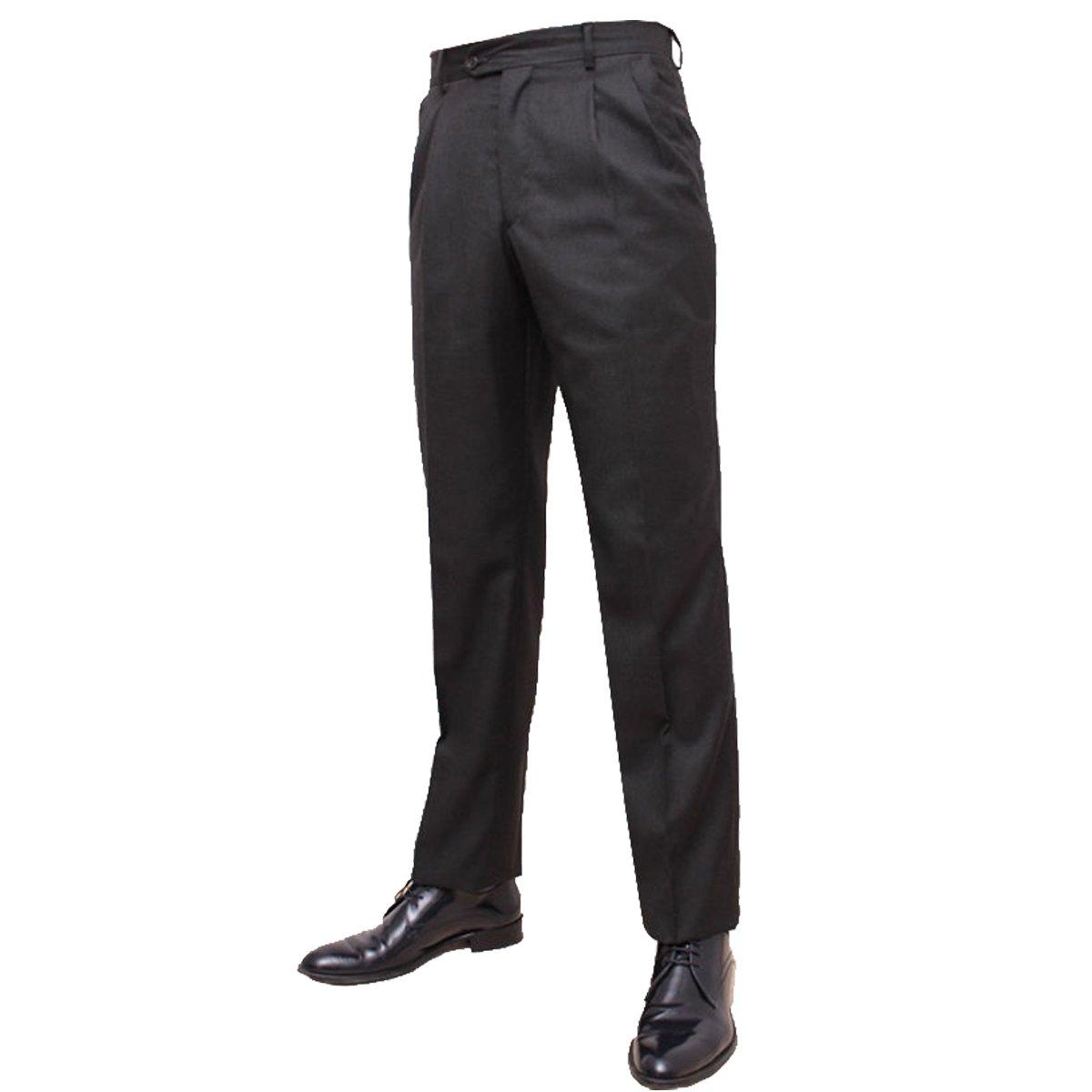 Pantalone uomo tasca america classico vita alta due penc