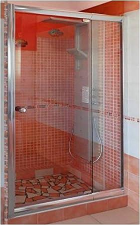 MAMPARA Ducha DE Vidrio Cristal Mate 6 MM Puerta ABATIBLE para NICHO UN Lado UNA Hoja Ancho 90 CM, Altura 185 CM: Amazon.es: Hogar
