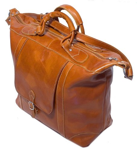 Floto Luggage Tack Duffle Bag, Olive/Honey Brown, Medium