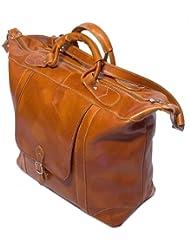 Floto Luggage Tack Duffle Bag, Olive/Honey Brown, Medium