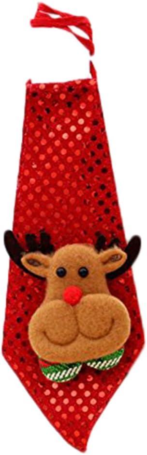 Scrox Lazo Decoración navideña Santa Claus corbata Navidad niños ...
