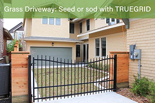 """TRUEGRID ECO (1"""" Depth) Permeable Pavers, (DIY) Driveway-in-a-Day, Patio, RV Pad, Drive-On Grass & Gravel (18-pack 72 Sf)"""