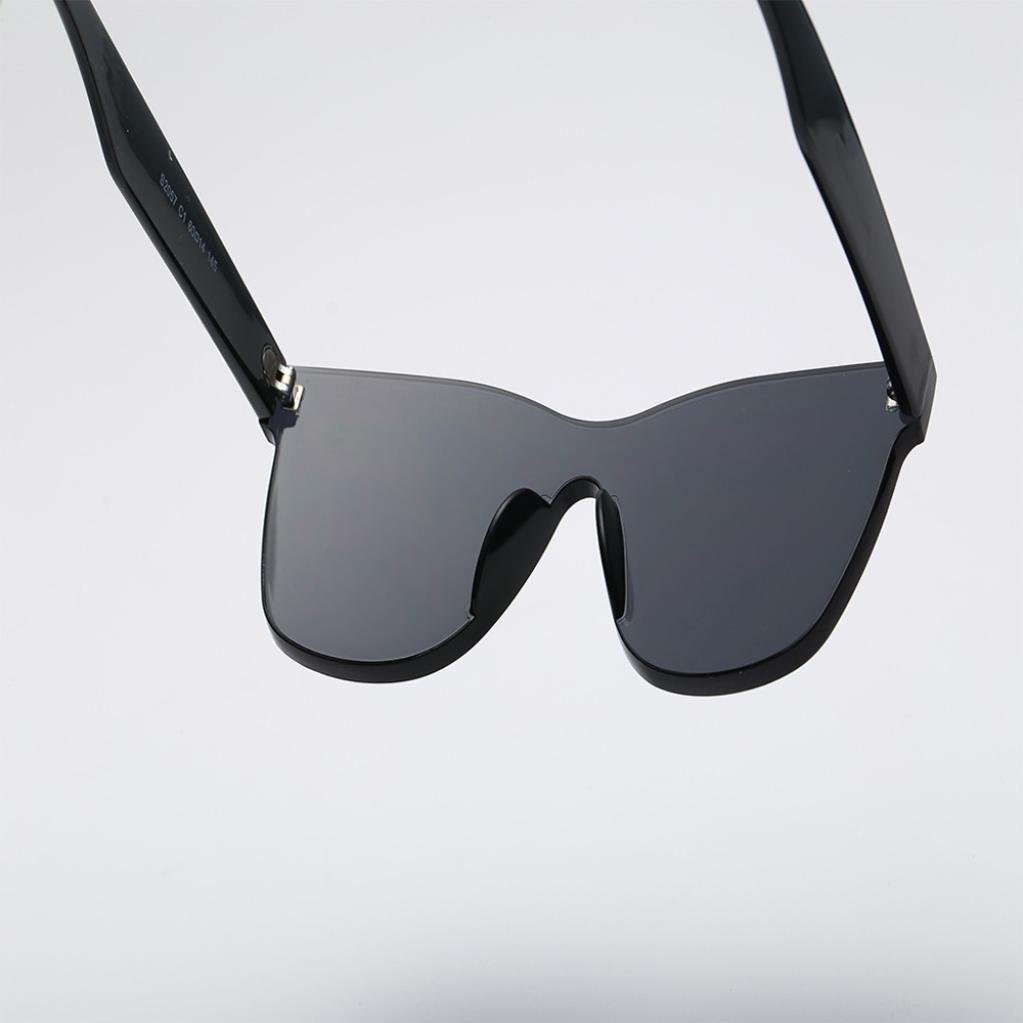 ee93840d3a Amazon.com  Sujing Women Fashion Heart-shaped Shades Sunglasses Integrated  UV Candy Colored Glasses (Black)  Clothing