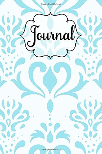 Blue White Floral Swirl Design Lined Journal: 6x9 Inches, 130 Pages, Matte Softcover Notebook, Lined Paper with Margin (Swirls White Floral)