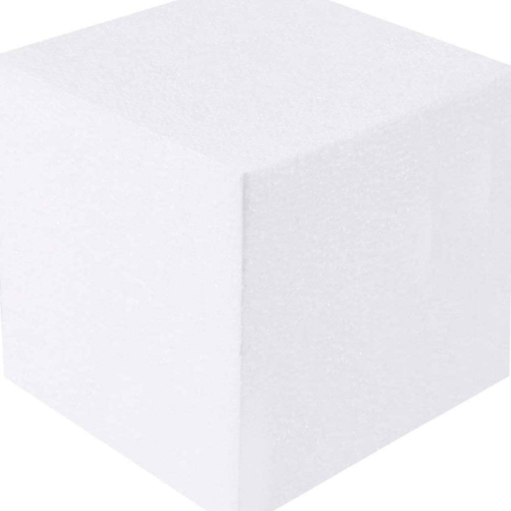 Healifty 18 Pcs Blanc Artisanat Bloc de Mousse Rectangle Polystyr/ène Styromousse Blocs de Mousse pour Bricolage Artisanat Art D/écoration Mousse Sculpture Mod/élisation