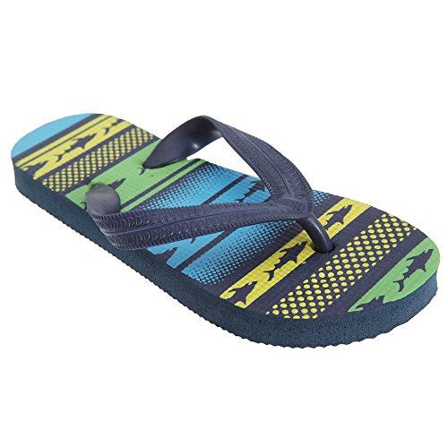 FLOSO - Chancla / sandalia con estampado Tirubón para niños Azul/Rojo/Gris