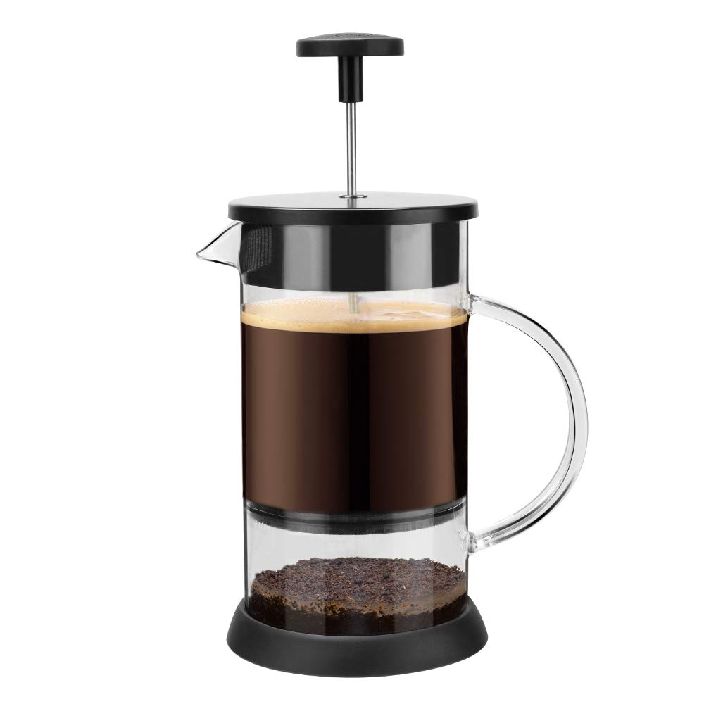 BRBHOM French Press Coffee & Tea Maker finest filtrartion water isolation |Best Coffee Pot without coffee grounds easy to clean | Stable nice Flavor 34oz(1L)
