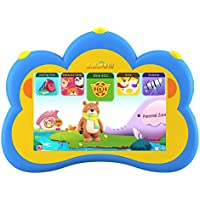 Kids Tablet, B.B.PAW 7 English Learning&Training Device with 90+ Pre-loaded Apps for Kids 2 to 6 Years Old,Blue