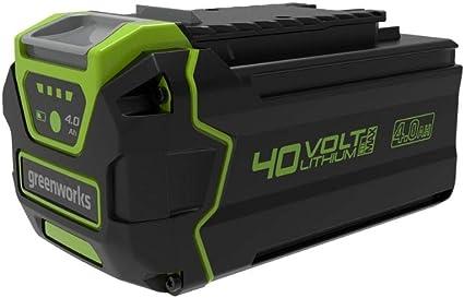 Greenworks 40V Batería de 2ª generación G40B4, batería Li-Ion 40V 4Ah recargable de alto rendimiento apta para todos los dispositivos de la serie 40V Greenworks
