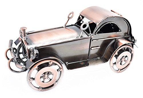 (Lchen Metal Classic Car,Old Vintage Car Mini Model Collectible Vehicle Toys Home Decorations (7 in))