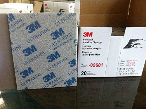 3/m 2601/ultra fine abrasive Softback sanding Sponge met/à scatola da 10/pz grade gamma 800/# 1000/#