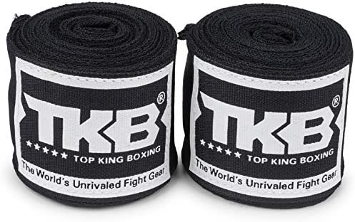 Top King - Vendas elásticas para boxeo (4 m), color negro, color negro, tamaño talla única: Amazon.es: Deportes y aire libre