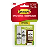 Command 17203C Picture Hanging Strips, Small and Medium, White, 4 Pairs of Small 8 Pairs of Medium