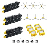 Replacement Parts Kit for Irobot Roomba 700 Series 760 770 780 790 Vacuum Cleaner Accessories Includes Bristle Brush & Flexbile Beater & Side Brush & Hepa Filters