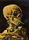 Gogh Vincent van Skull Smoking a Cigarette 100% Hand Painted Oil Paintings Reproductions 12X16 Inch