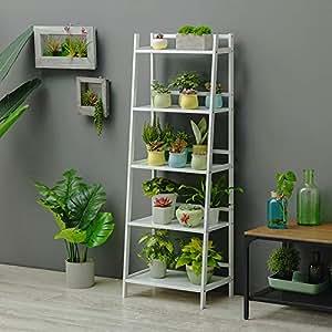 Plegable Bambú Estanteria para macetas,Soporte de exhibición ...