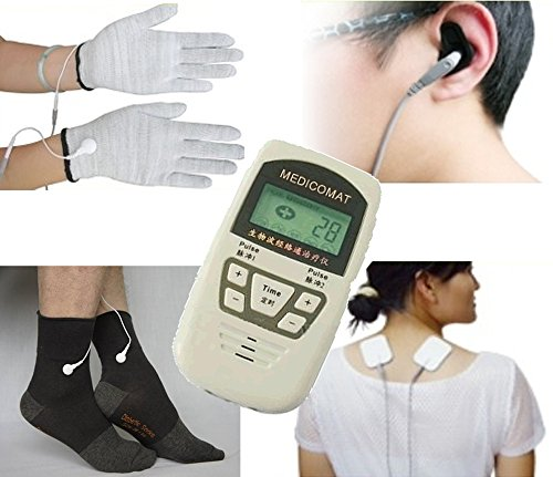 Diabetic Neuropathy Treatment Medicomat-10C Peripheral Neuropathy Symptoms Painful Diabetic Foot Conductive Socks Gloves by Medicomat