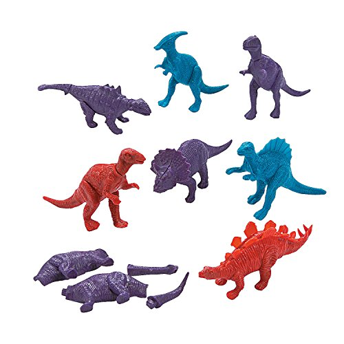 Build Your Own Mini Dinosaur Snap Together Puzzle Party Favors - 12 pieces