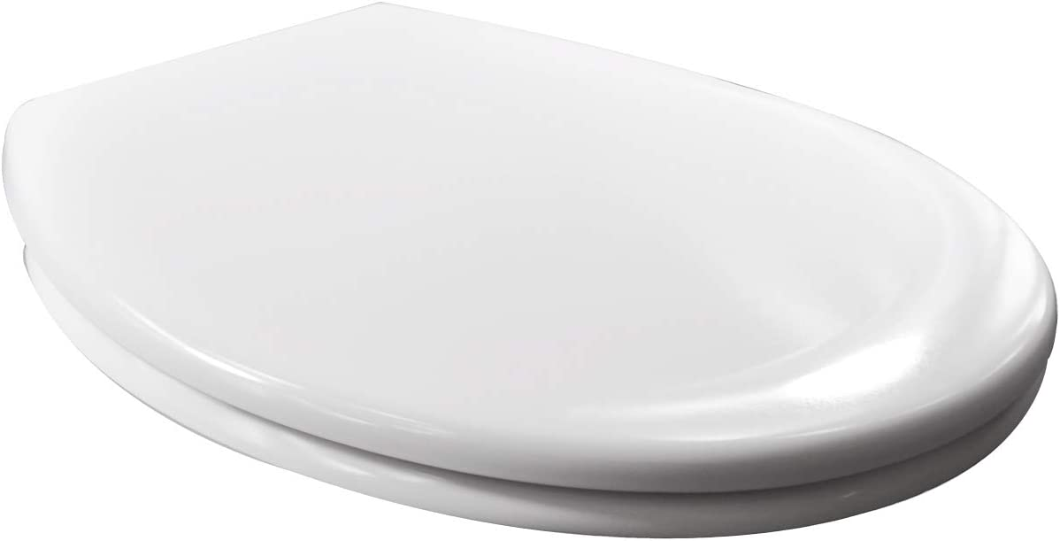 Heavy Duty Soft Close Quick Release Toilet Seat with Dual Fixing Fittings,White