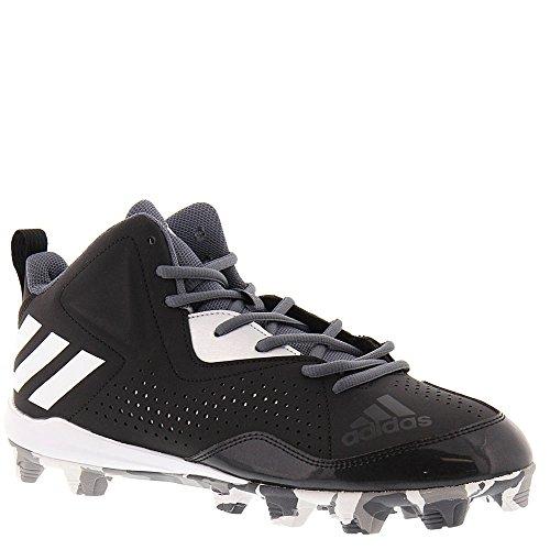 adidas Performance Men's Wheelhouse 4 Mid Baseball Shoe, Black/White/Onix, 11 M US