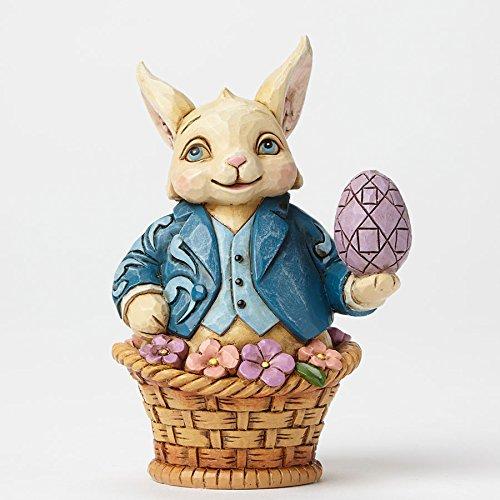 Easter Bunny Rabbit Figurine - Enesco Jim Shore Figurine Easter Bunny IN Bas