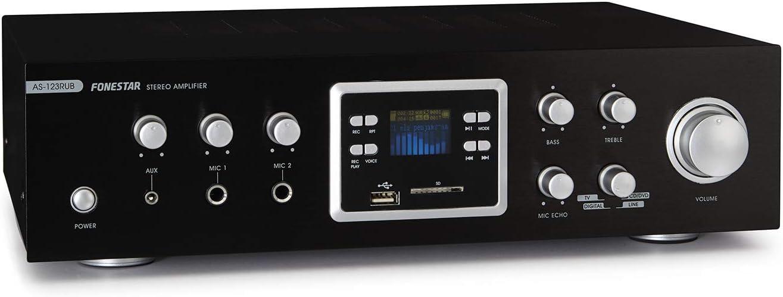 FONESTAR AS-123RUB - Amplificador Karaoke MP3/FM/BT: Amazon.es ...
