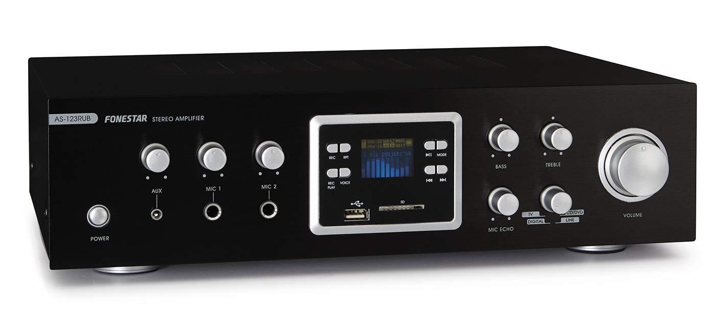 FONESTAR AS-123RUB - Amplificador Karaoke MP3/FM/BT: Amazon.es: Electrónica