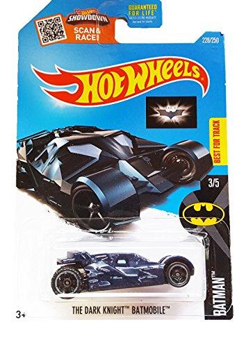 Hot Wheels 2016 Batman The Dark Knight Batmobile 228/250, (Dark Knight Batmobile)