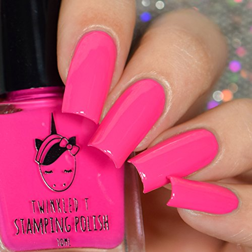 (Bothered Hot Pink Stamping Polish by Twinkled T)
