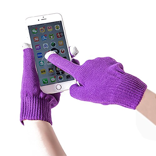 Yhao Knit Winter Warm Outdoor Touch Screen Gloves Mittens Smartphones Tablets Texting /Men