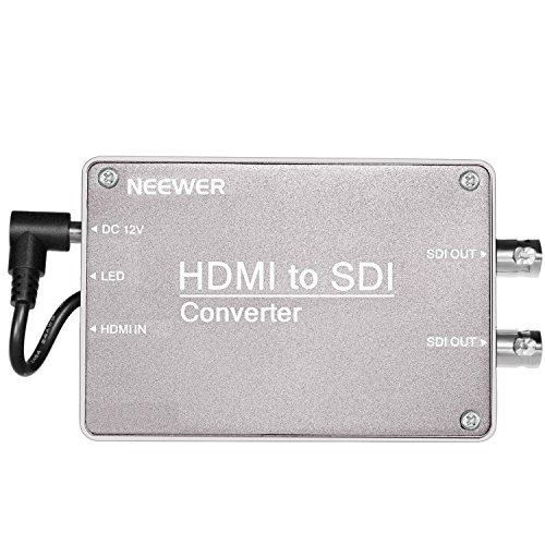 Neewer HDMI to SDI Micro Signal Converter for Monitor with HDMI Output, 2.970 Gbit/s HD Synchronized Audio Video Adapter Support 1080P 1080i 720P 576i 480i for Camera Home Theater by Neewer