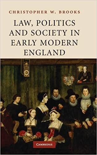 Book Law, Politics and Society in Early Modern England