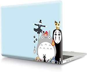 HRH Halloween Totoro Design Laptop Body Shell Protective PC Hard Case for MacBook New Pro 15 Case 2018 2017 2016 Release A1990/A1707 with Touch Bar