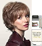SKY by Noriko Wig, 15 Page Christy's Wigs Q & A Booklet, Wig Shampoo, Wig Cap & Wide Tooth Comb - Color: MEDIUM BROWN