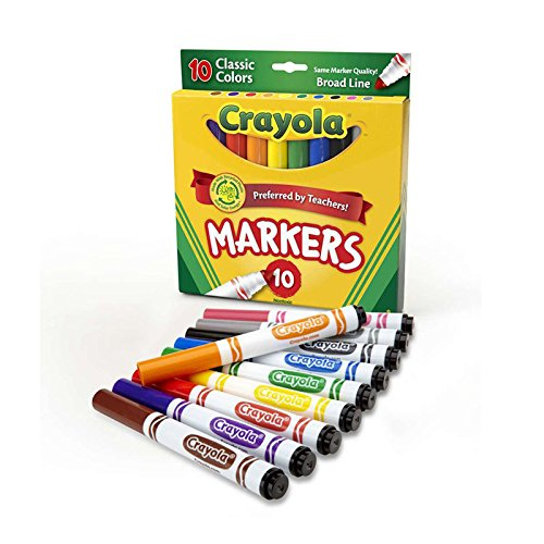Crayola 10 Ct Classic Broad Line Markers(Discontinued by (Forest School Halloween Activities)
