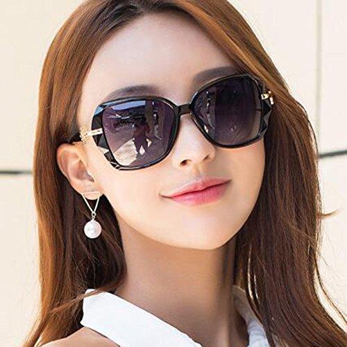 Polarizadas Sra KAI Miopía Mismo Gafas Gafas con Equiparse LE Protección Puede Marco Gran Star de UV Negro de Gafas Párrafo El Purple Sol Color Sol Tide wIIZArnqp
