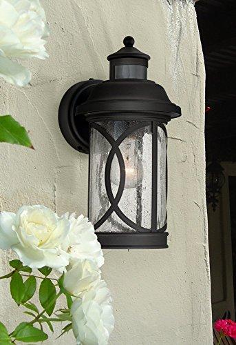 Capistrano 15 1 2 Quot H Black Motion Sensor Outdoor Wall Light