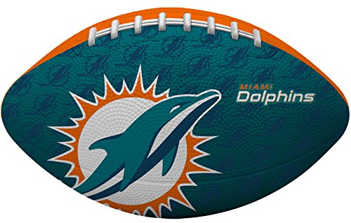Rawlings NFL Gridiron Junior-Size Youth Football - Miami Dolphins Soft Football